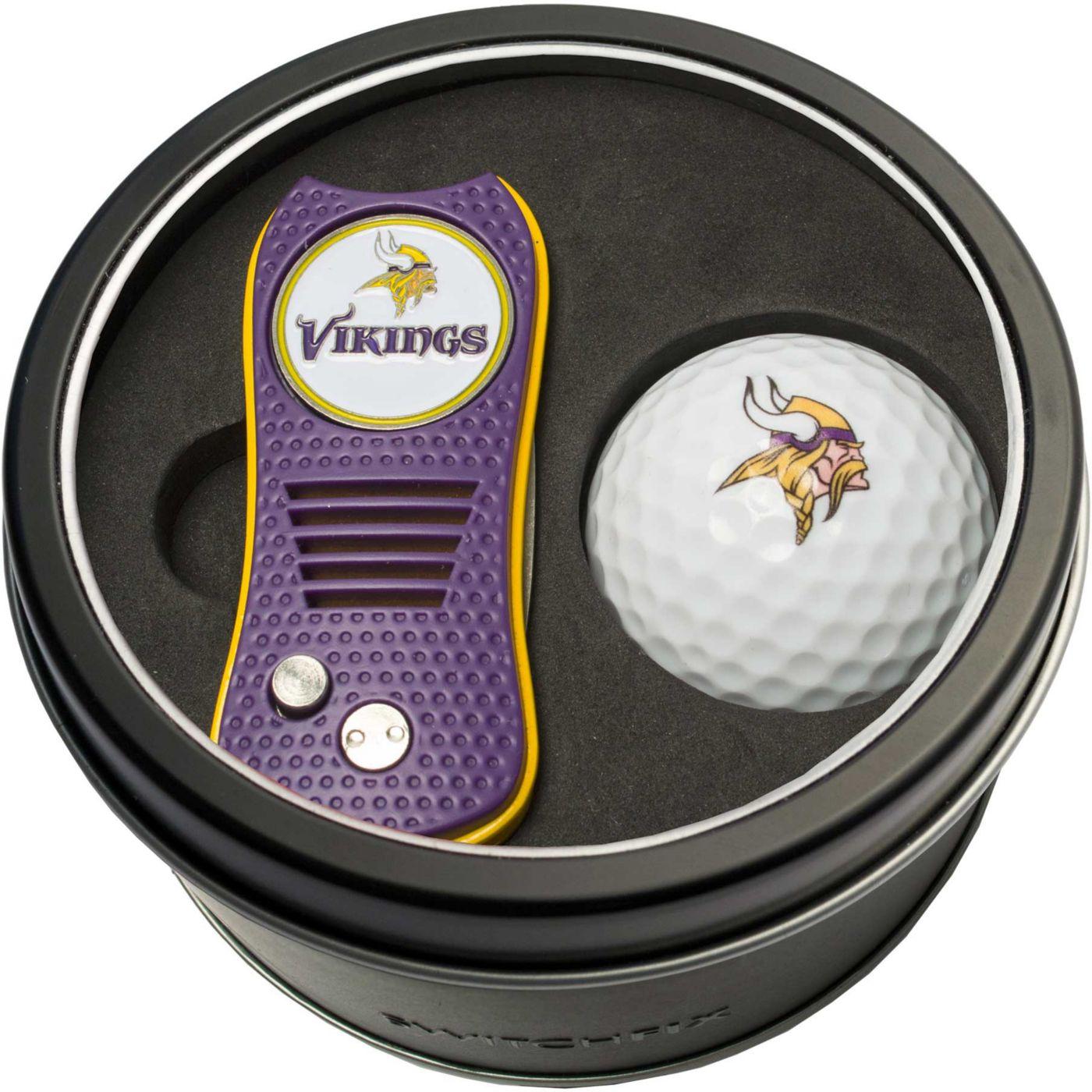 Team Golf Minnesota Vikings Switchfix Divot Tool and Golf Ball Set