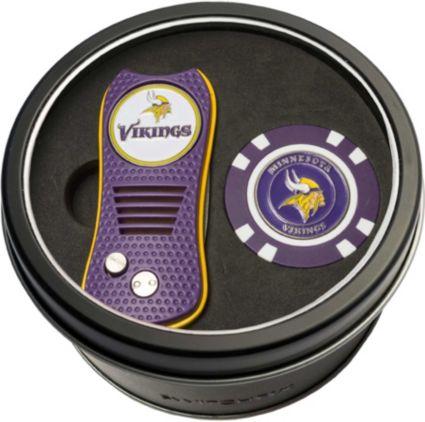 Team Golf Minnesota Vikings Switchfix Divot Tool and Poker Chip Ball Marker Set
