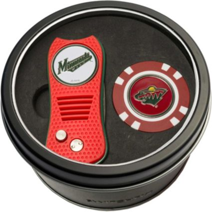 Team Golf Minnesota Wild Switchfix Divot Tool and Poker Chip Ball Marker Set