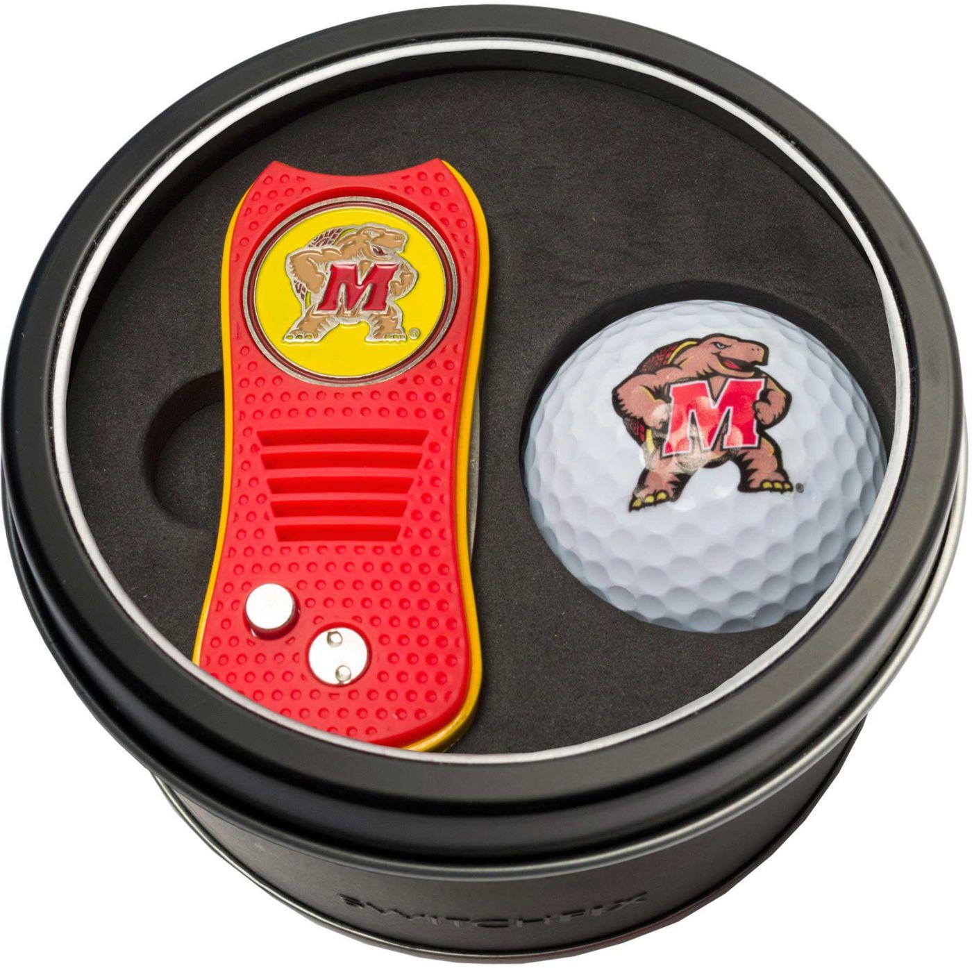 Team Golf Maryland Terrapins Switchfix Divot Tool and Golf Ball Set