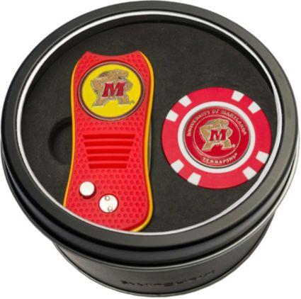Team Golf Maryland Terrapins Switchfix Divot Tool and Poker Chip Ball Marker Set