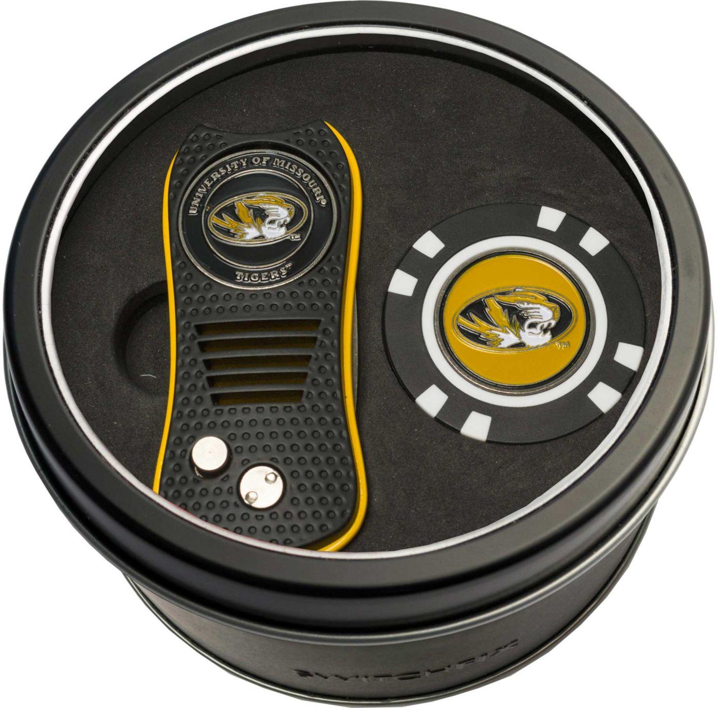 Team Golf Missouri Tigers Switchfix Divot Tool and Poker Chip Ball Marker Set