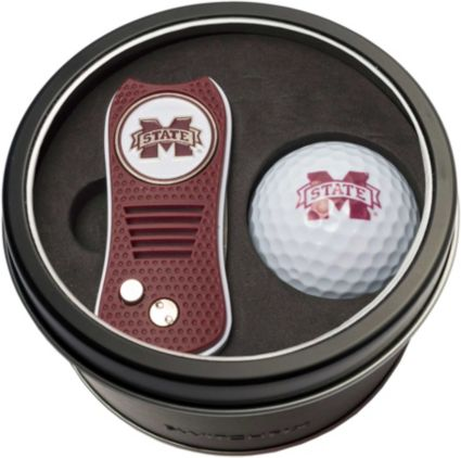 Team Golf Mississippi State Bulldogs Switchfix Divot Tool and Golf Ball Set