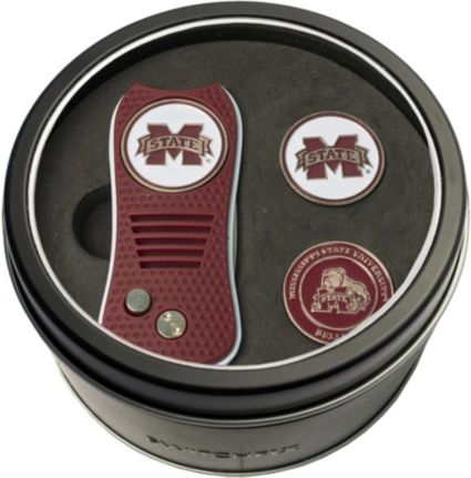 Team Golf Mississippi State Bulldogs Switchfix Divot Tool and Ball Markers Set