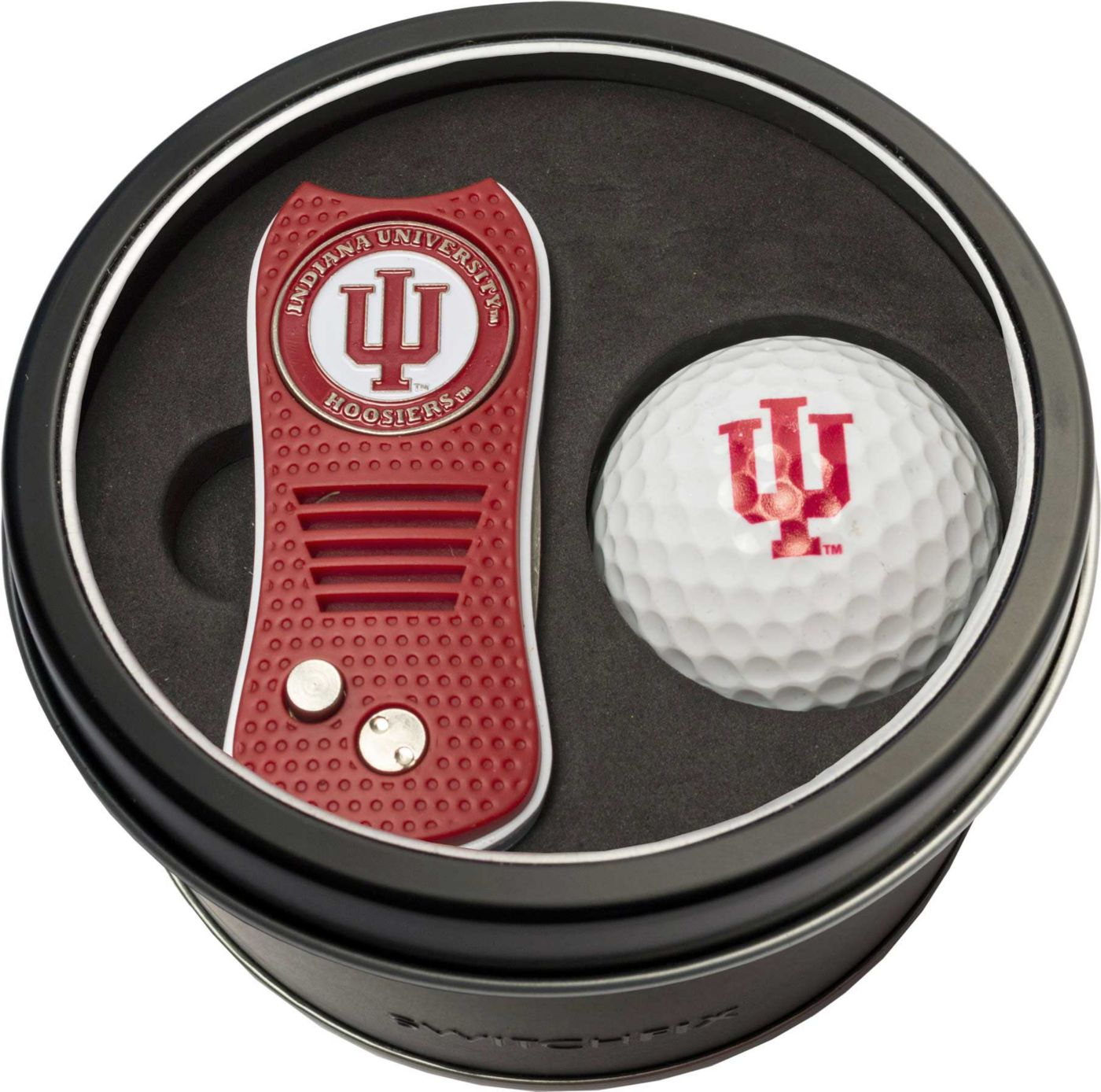 Team Golf Indiana Hoosiers Switchfix Divot Tool and Golf Ball Set