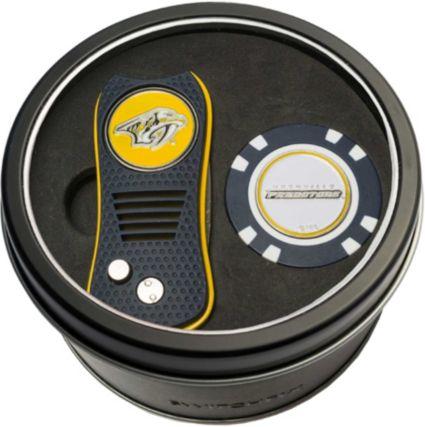 Team Golf Nashville Predators Switchfix Divot Tool and Poker Chip Ball Marker Set