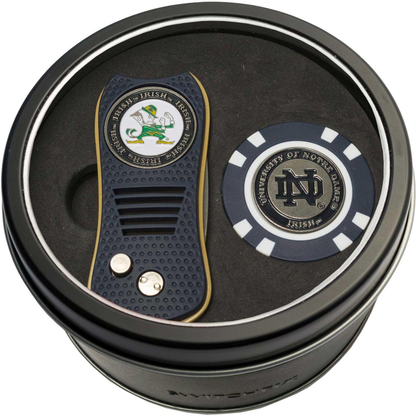 Team Golf Notre Dame Fighting Irish Switchfix Divot Tool and Poker Chip Ball Marker Set