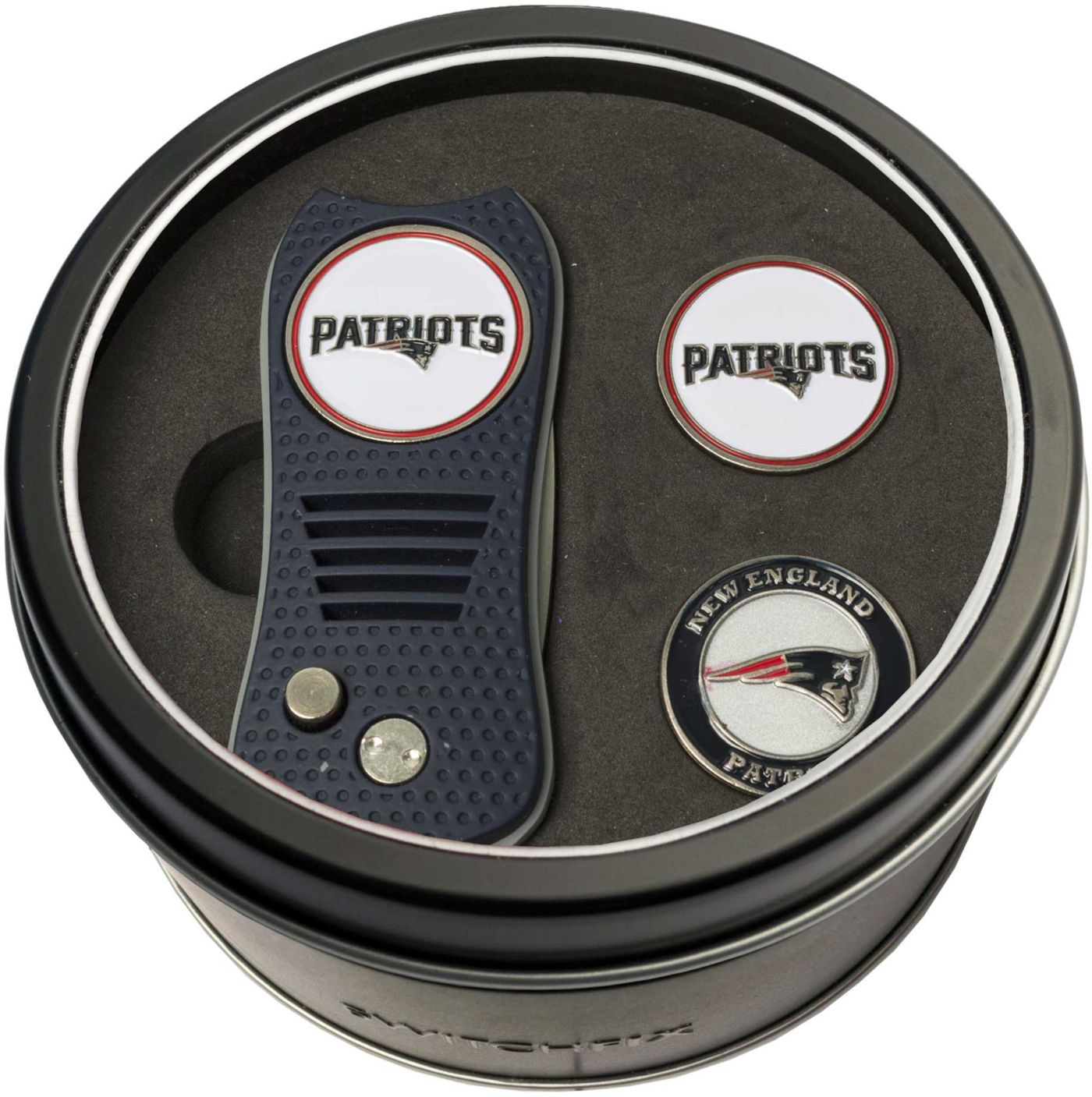 Team Golf New England Patriots Switchfix Divot Tool and Ball Markers Set