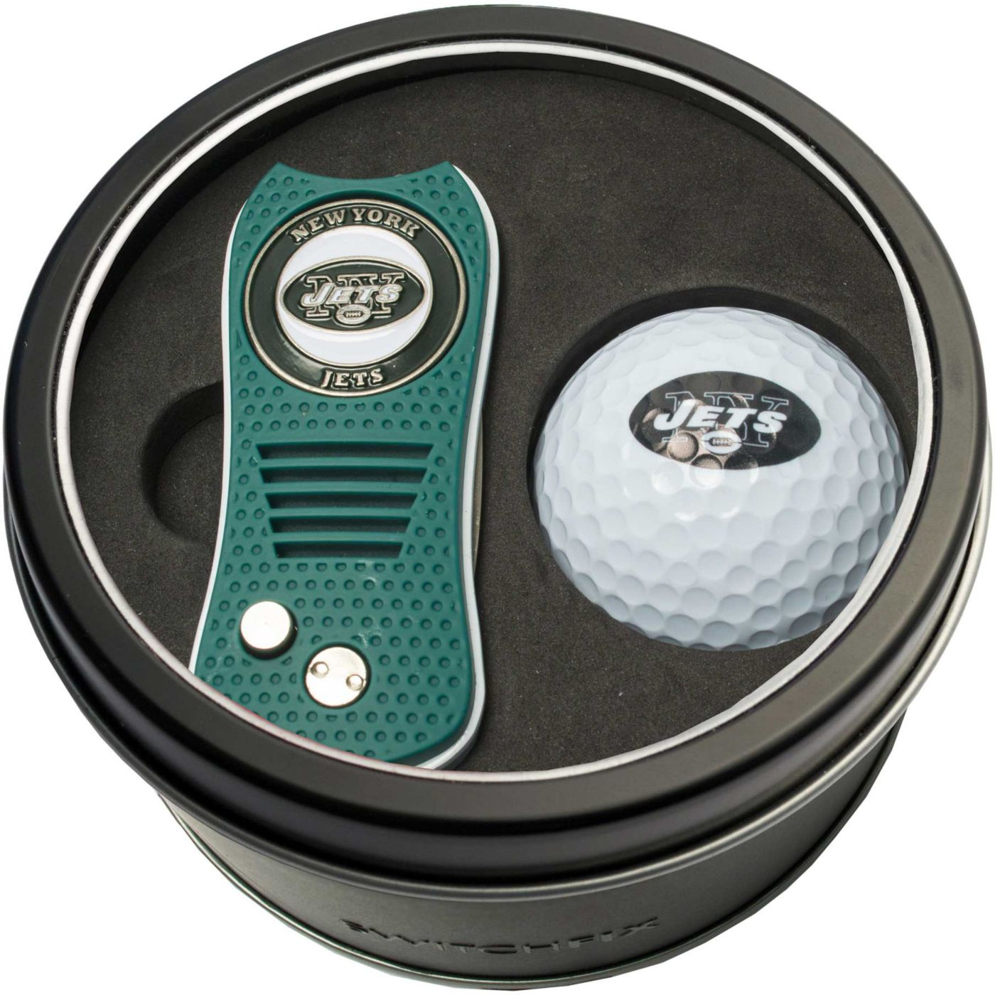 Team Golf New York Jets Switchfix Divot Tool and Golf Ball Set