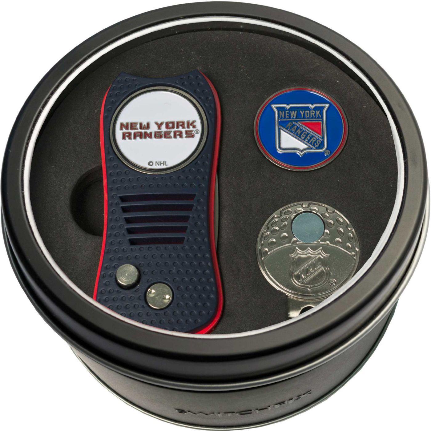 Team Golf New York Rangers Switchfix Divot Tool and Cap Clip Set