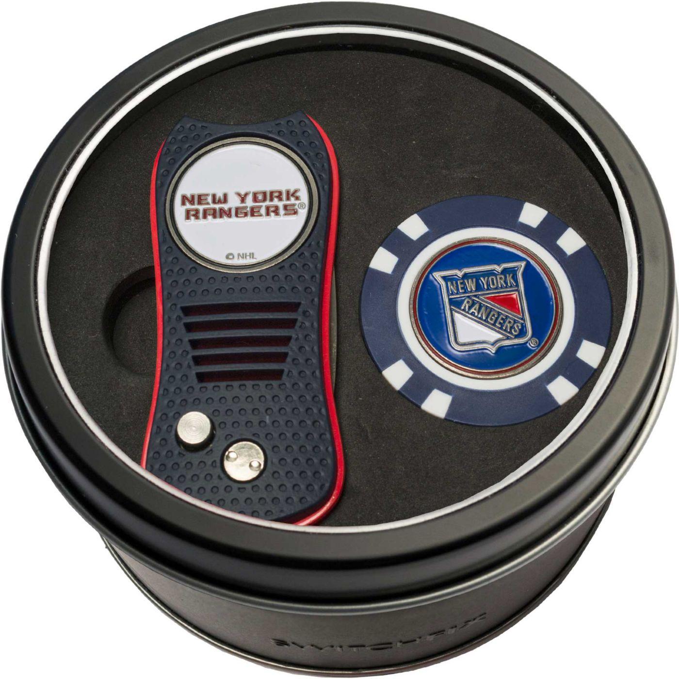 Team Golf New York Rangers Switchfix Divot Tool and Poker Chip Ball Marker Set