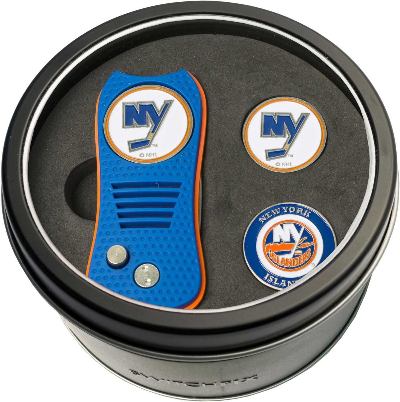 Team Golf New York Islanders Switchfix Divot Tool and Ball Markers Set
