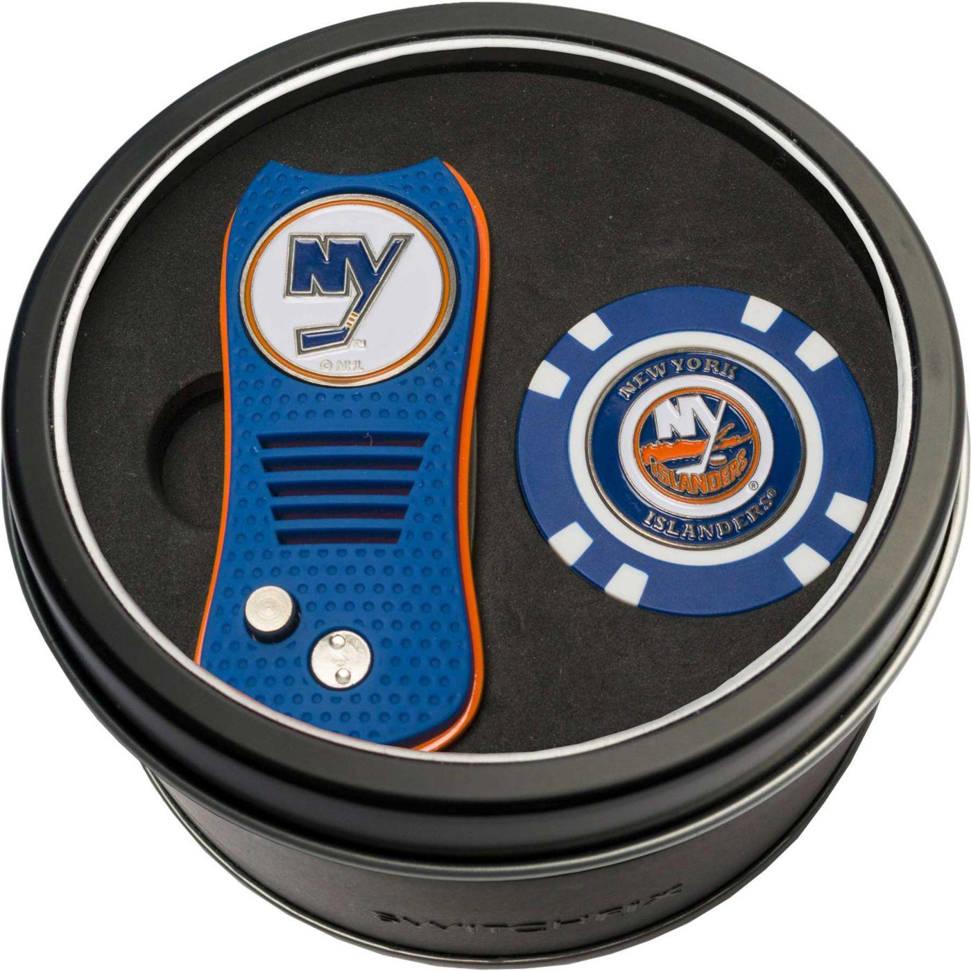 Team Golf New York Islanders Switchfix Divot Tool and Poker Chip Ball Marker Set