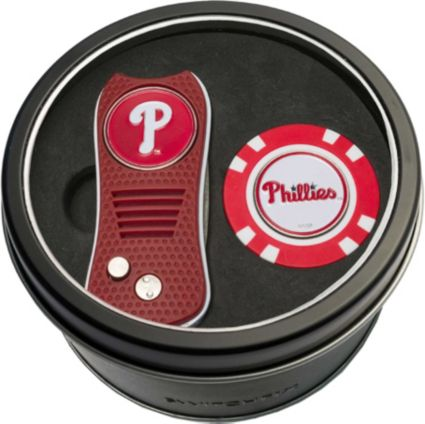 Team Golf Philadelphia Phillies Switchfix Divot Tool and Poker Chip Ball Marker Set