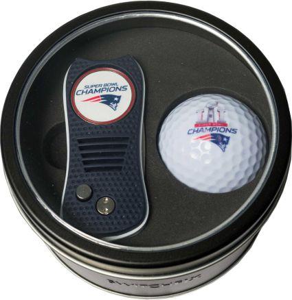 Team Golf New England Patriots Switchfix Tin Gift Set - 2017 Super Bowl Champions Edition