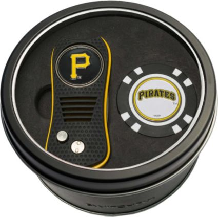 Team Golf Pittsburgh Pirates Switchfix Divot Tool and Poker Chip Ball Marker Set