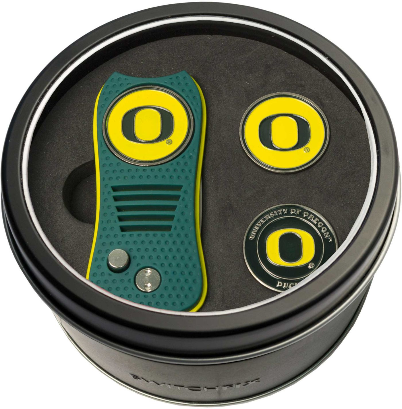 Team Golf Oregon Ducks Switchfix Divot Tool and Ball Markers Set