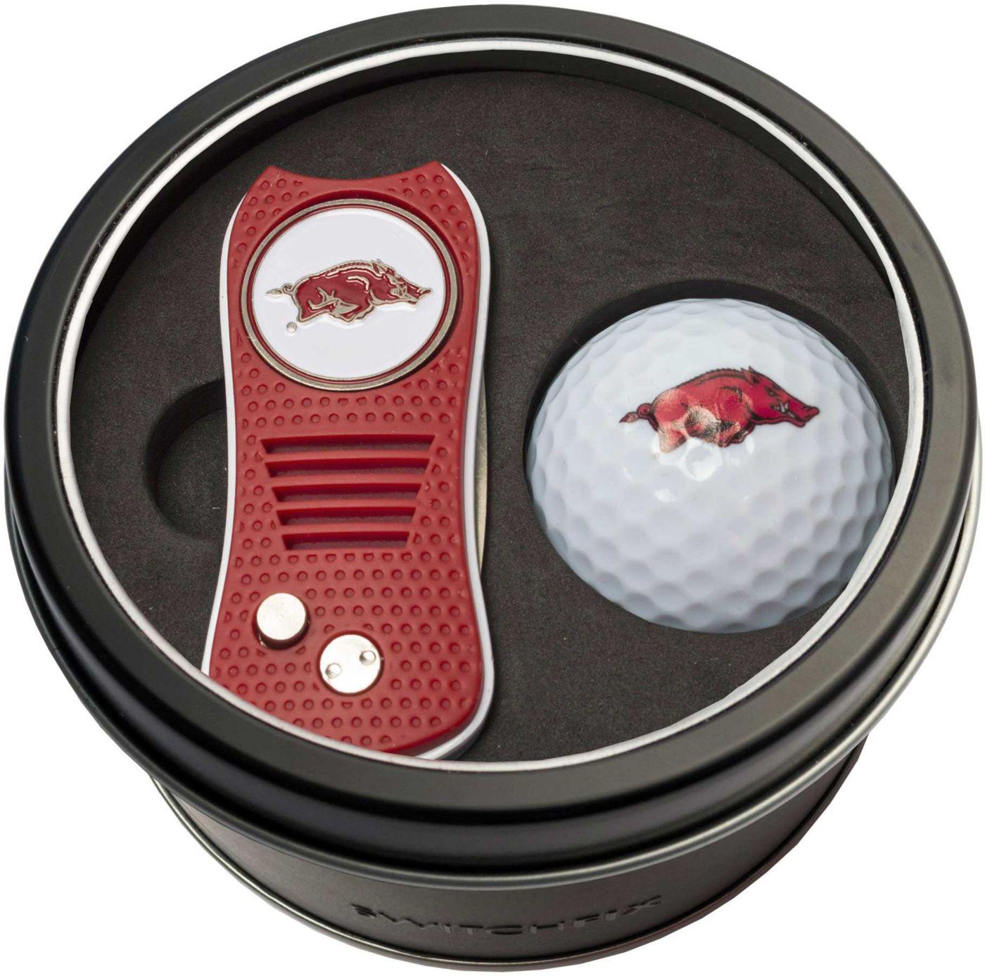 Team Golf Arkansas Razorbacks Switchfix Divot Tool and Golf Ball Set