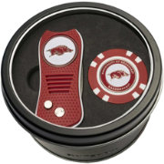 Team Golf Arkansas Razorbacks Switchfix Divot Tool and Poker Chip Ball Marker Set