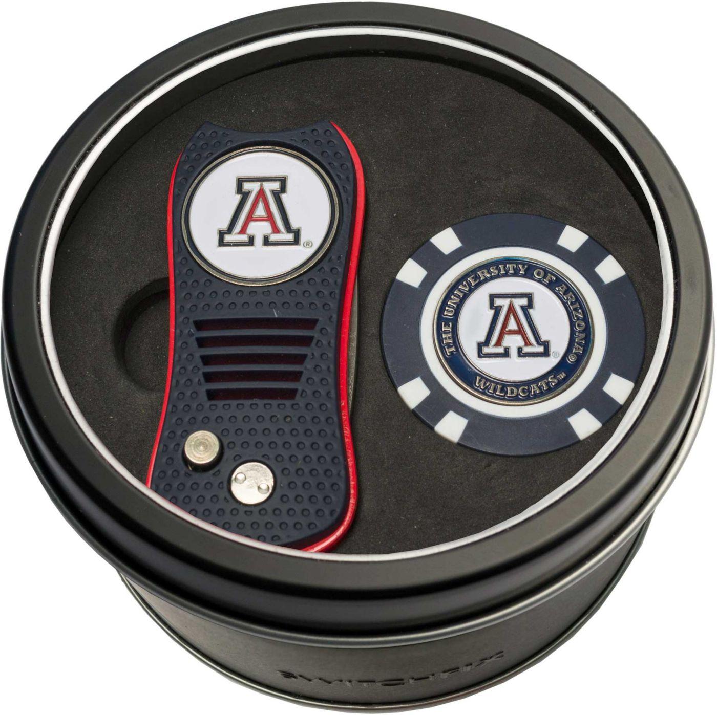 Team Golf Arizona Wildcats Switchfix Divot Tool and Poker Chip Ball Marker Set