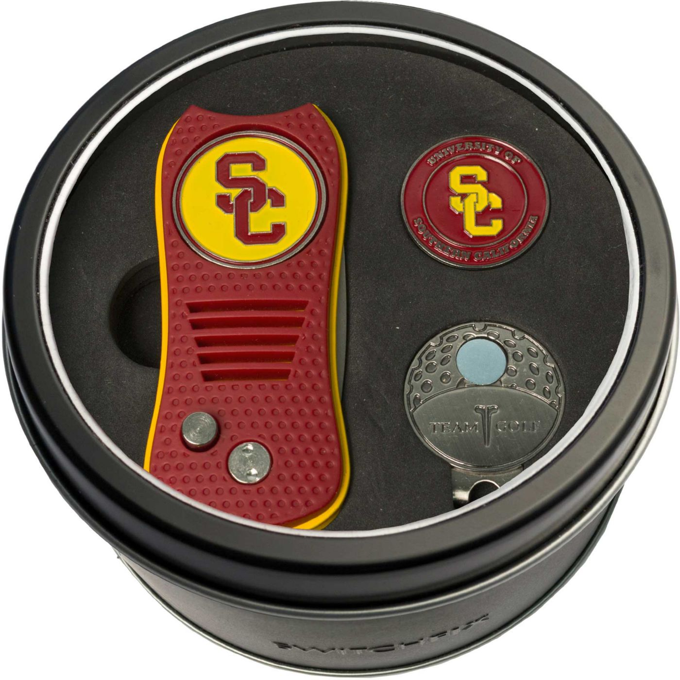 Team Golf USC Trojans Switchfix Divot Tool and Cap Clip Set