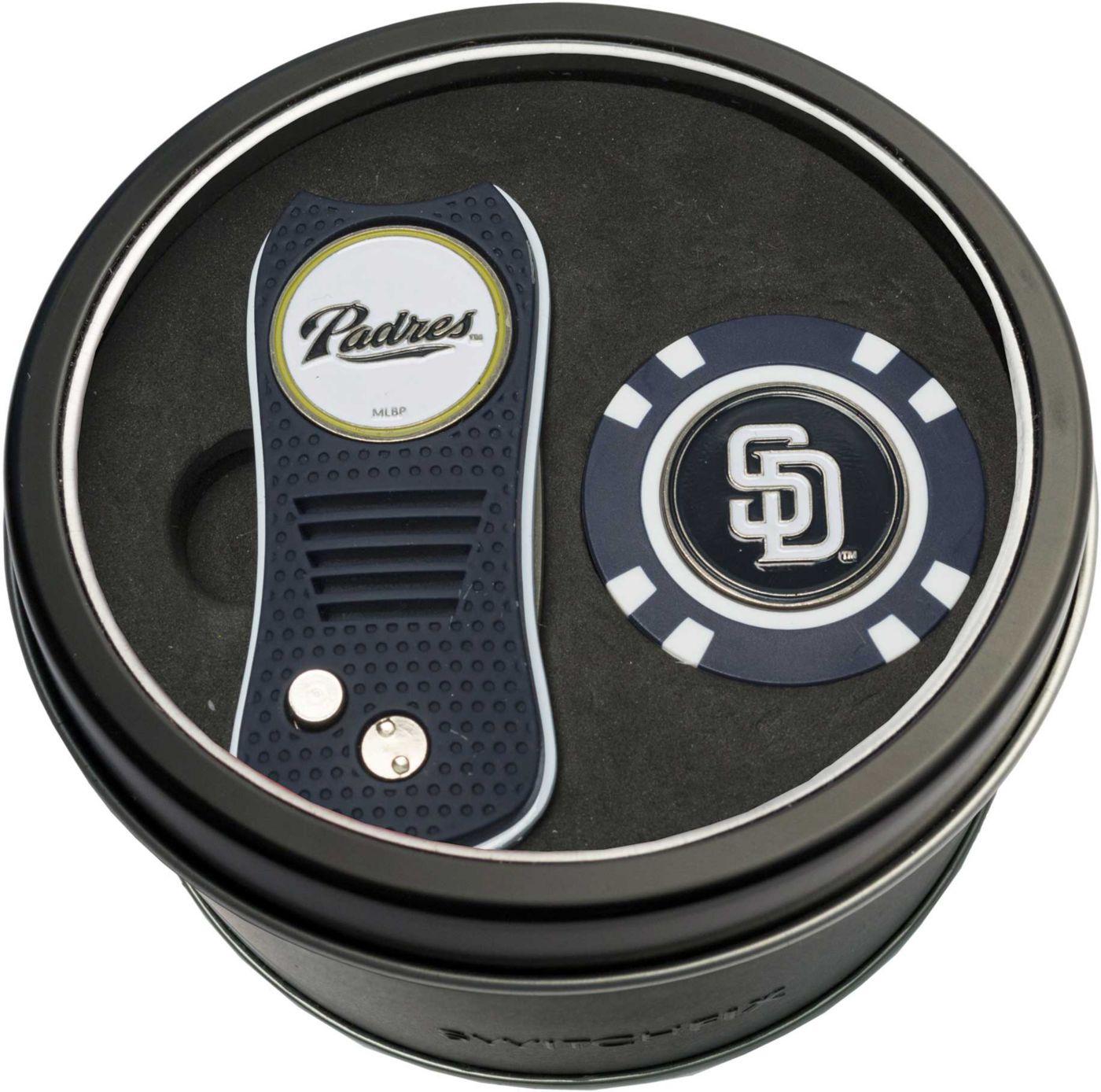 Team Golf San Diego Padres Switchfix Divot Tool and Poker Chip Ball Marker Set