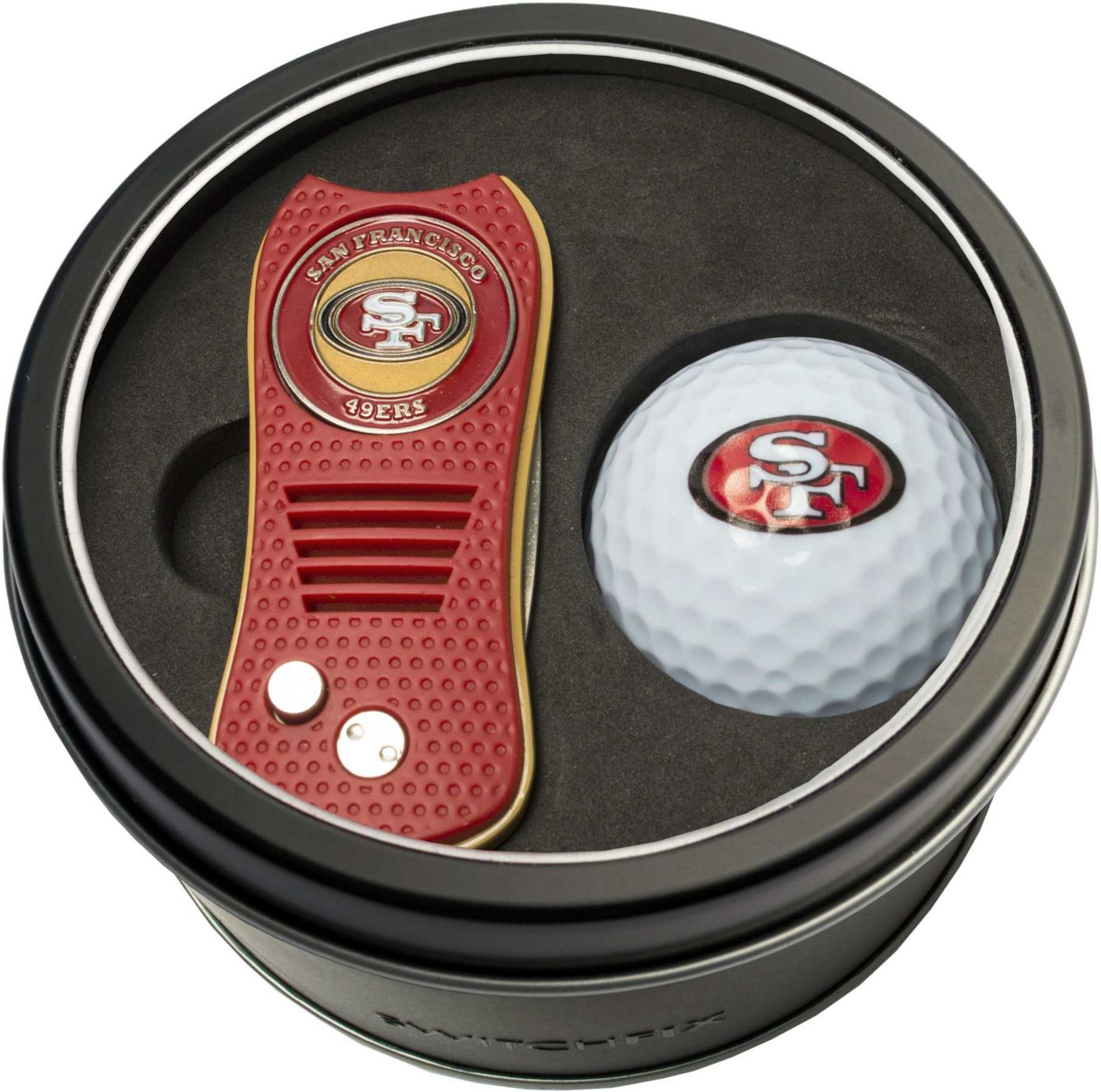Team Golf San Francisco 49ers Switchfix Divot Tool and Golf Ball Set
