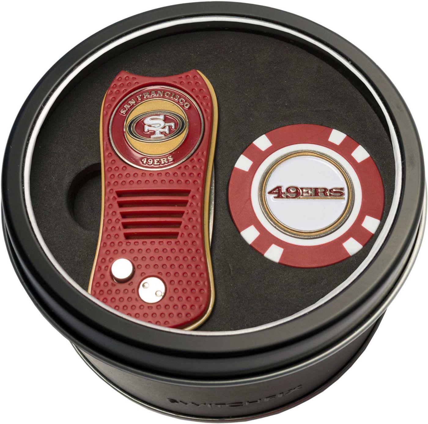 Team Golf San Francisco 49ers Switchfix Divot Tool and Poker Chip Ball Marker Set