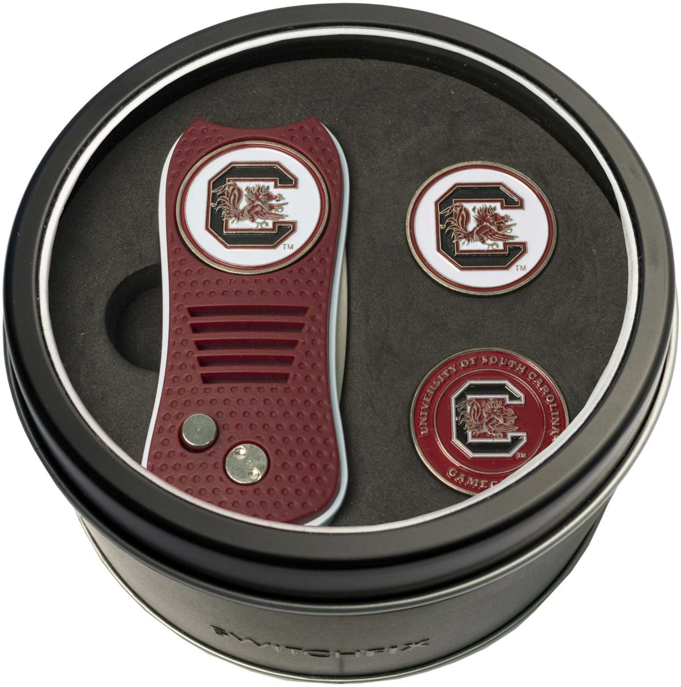 Team Golf South Carolina Gamecocks Switchfix Divot Tool and Ball Markers Set