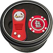 Team Golf St. Louis Cardinals Switchfix Divot Tool and Poker Chip Ball Marker Set