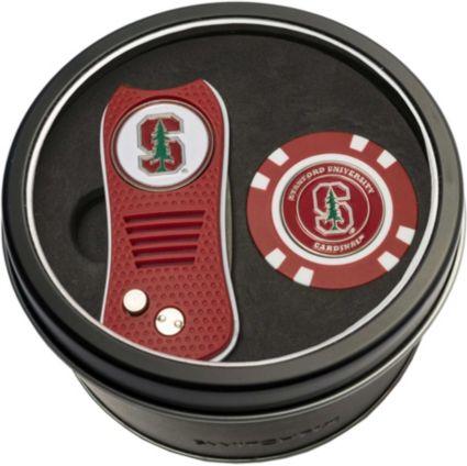Team Golf Stanford CardinalSwitchfix Divot Tool and Poker Chip Ball Marker Set