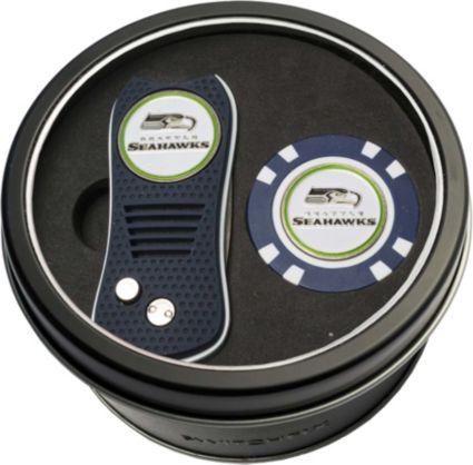 Team Golf Seattle Seahawks Switchfix Divot Tool and Poker Chip Ball Marker Set