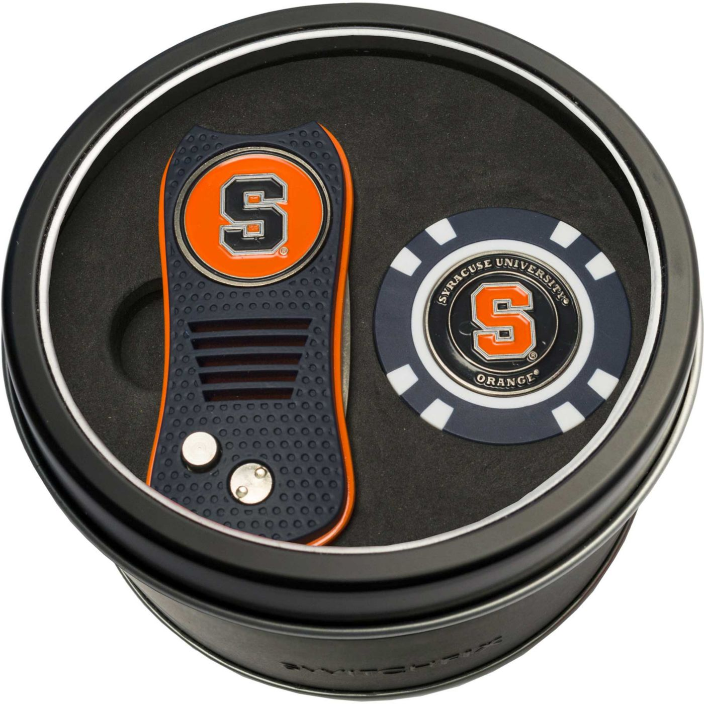 Team Golf Syracuse Orange Switchfix Divot Tool and Poker Chip Ball Marker Set