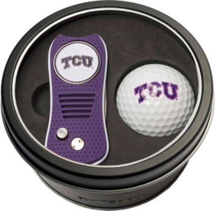 Team Golf TCU Horned Frogs Switchfix Divot Tool and Golf Ball Set