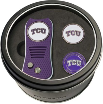 Team Golf TCU Horned Frogs Switchfix Divot Tool and Ball Markers Set