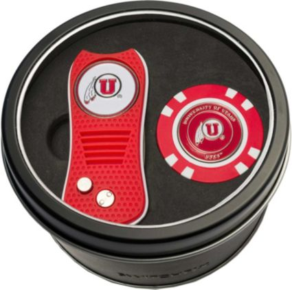 Team Golf Utah Utes Switchfix Divot Tool and Poker Chip Ball Marker Set
