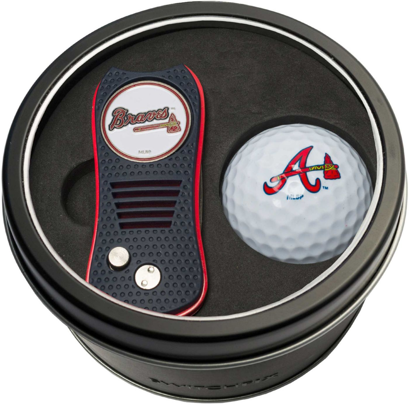 Team Golf Atlanta Braves Switchfix Divot Tool and Golf Ball Set