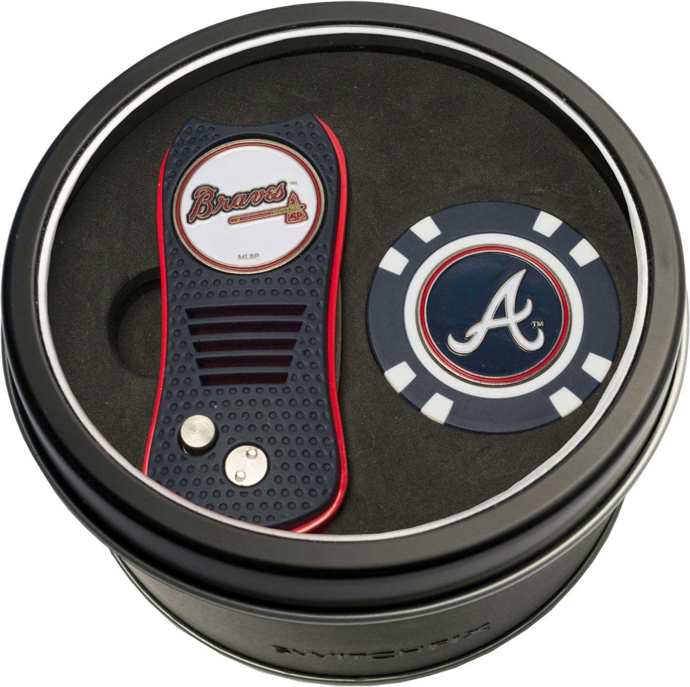 Team Golf Atlanta Braves Switchfix Divot Tool and Poker Chip Ball Marker Set