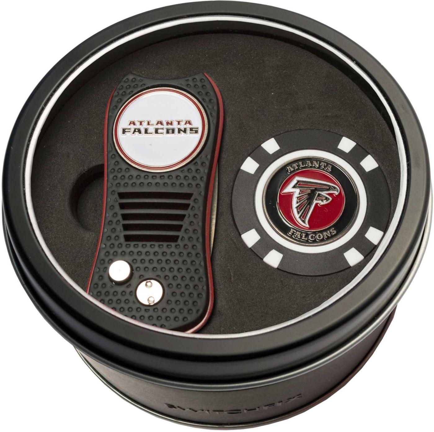 Team Golf Atlanta Falcons Switchfix Divot Tool and Poker Chip Ball Marker Set