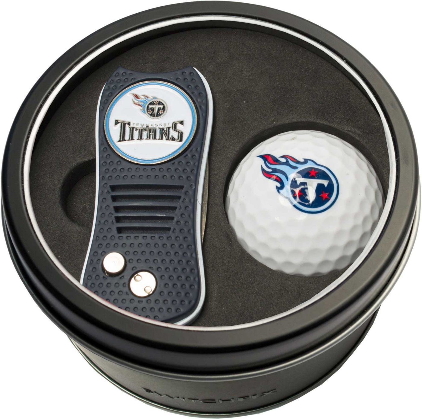 Team Golf Tennessee Titans Switchfix Divot Tool and Golf Ball Set