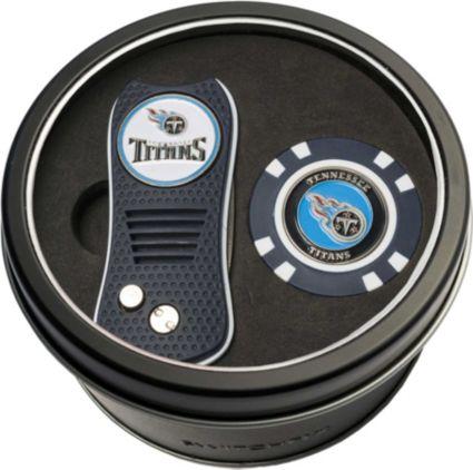 Team Golf Tennessee Titans Switchfix Divot Tool and Poker Chip Ball Marker Set