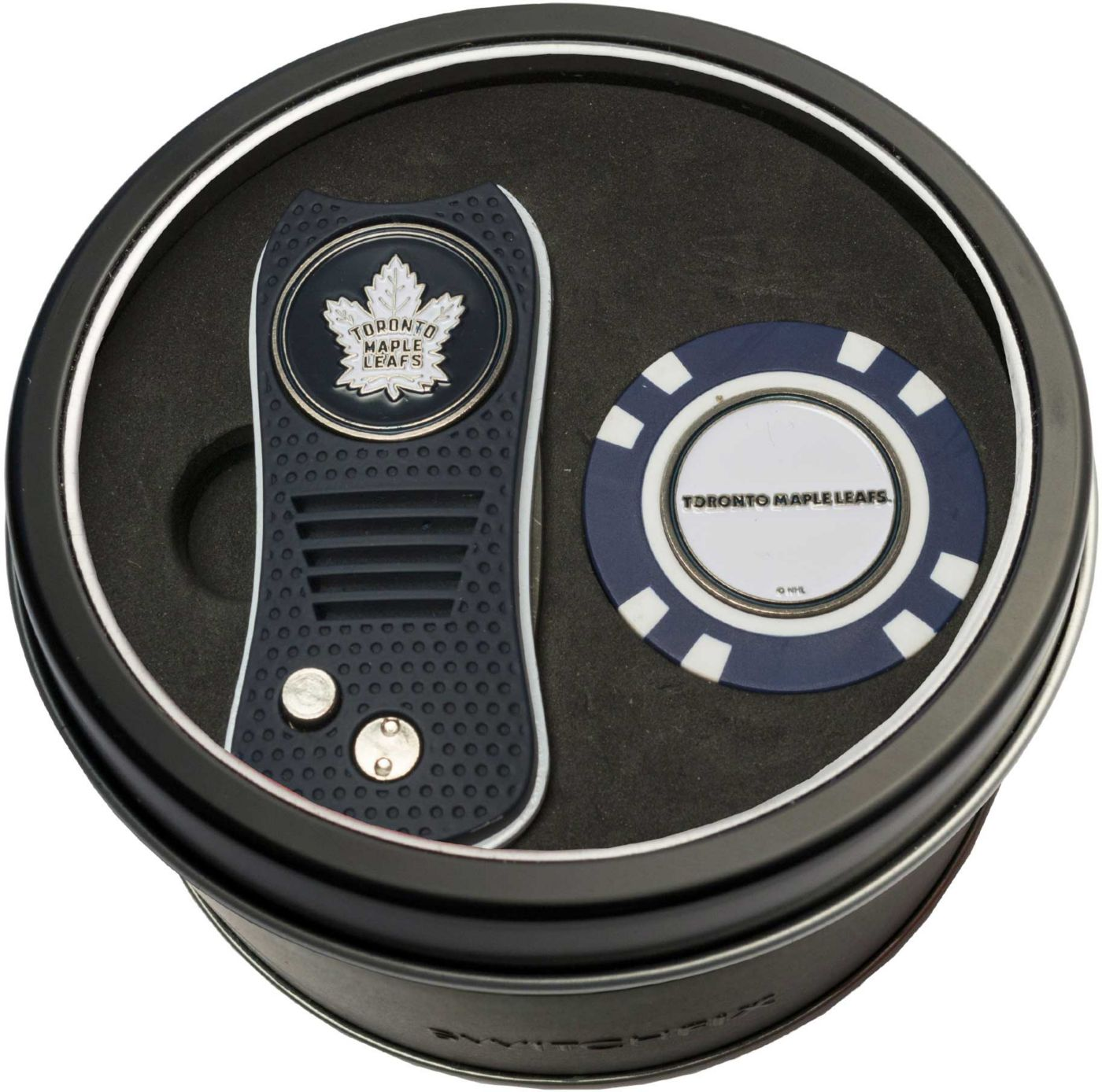 Team Golf Toronto Maple Leafs Switchfix Divot Tool and Poker Chip Ball Marker Set