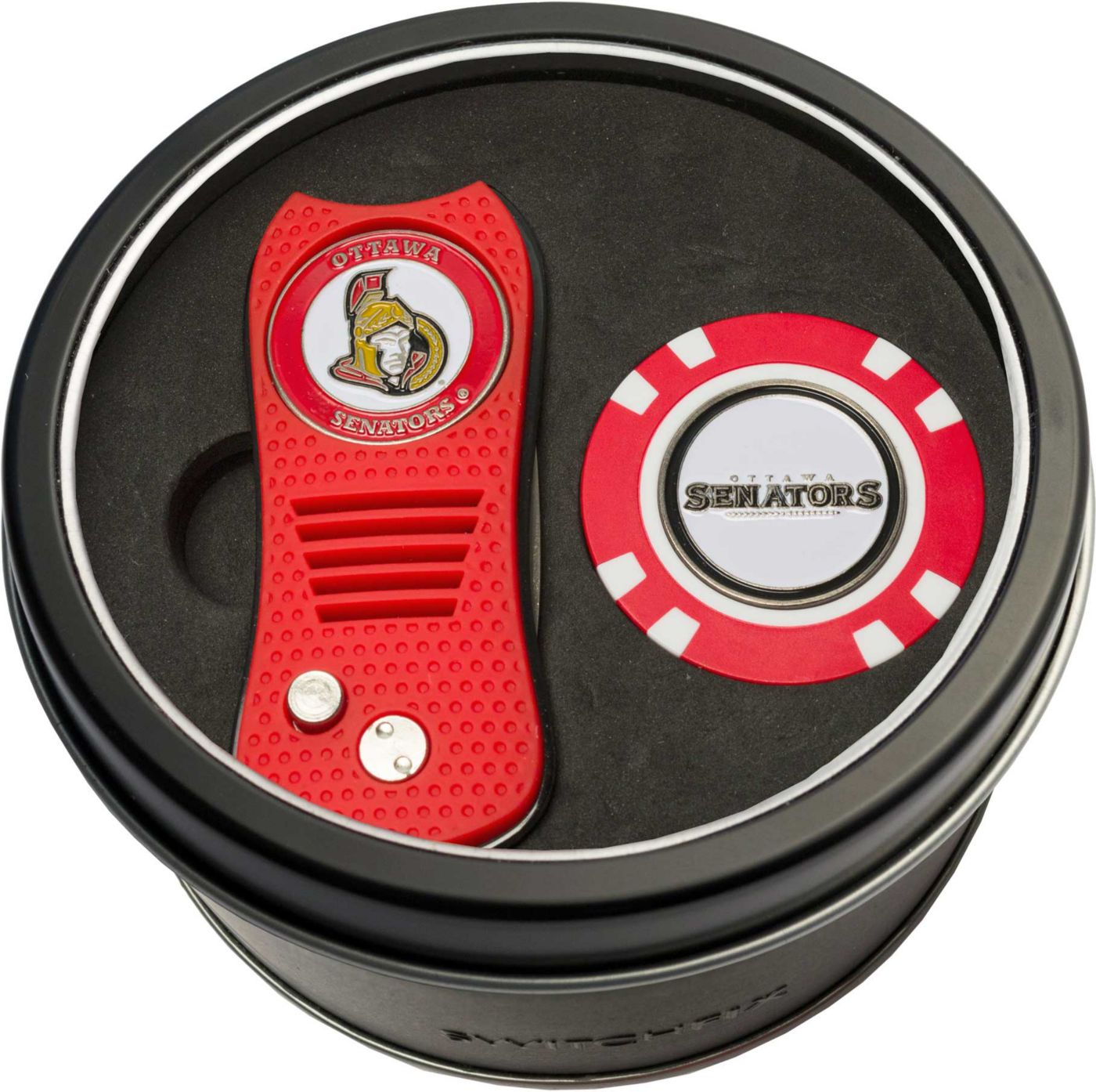 Team Golf Ottawa Senators Switchfix Divot Tool and Poker Chip Ball Marker Set