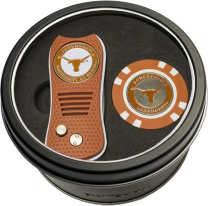 Team Golf Texas Longhorns Switchfix Divot Tool and Poker Chip Ball Marker Set