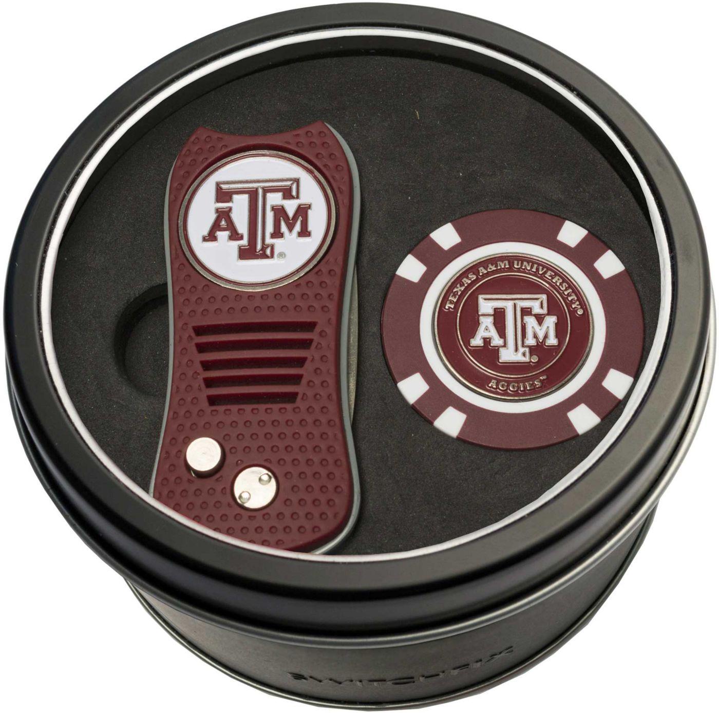 Team Golf Texas A&M Aggies Switchfix Divot Tool and Poker Chip Ball Marker Set