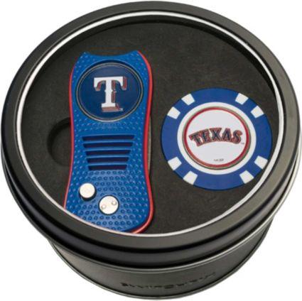 Team Golf Texas Rangers Switchfix Divot Tool and Poker Chip Ball Marker Set