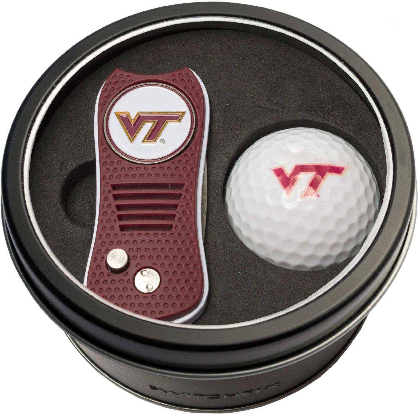 Team Golf Virginia Tech Hokies Switchfix Divot Tool and Golf Ball Set