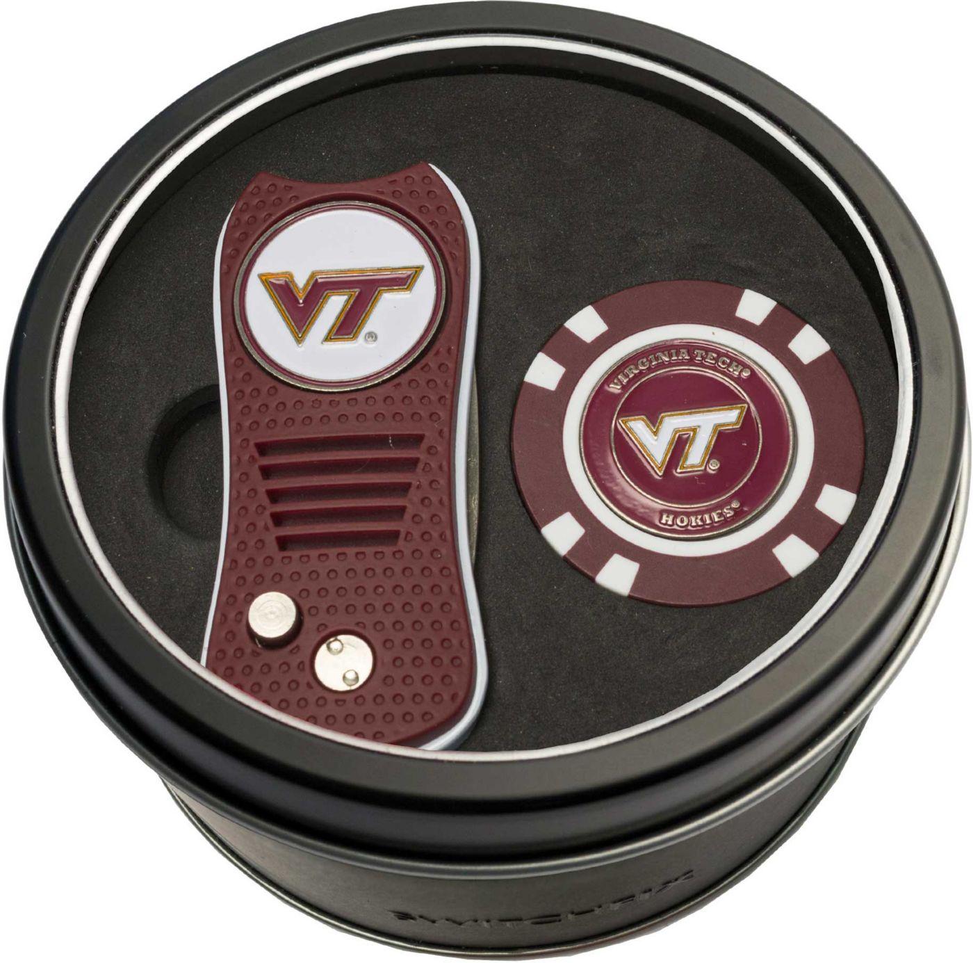 Team Golf Virginia Tech Hokies Switchfix Divot Tool and Poker Chip Ball Marker Set