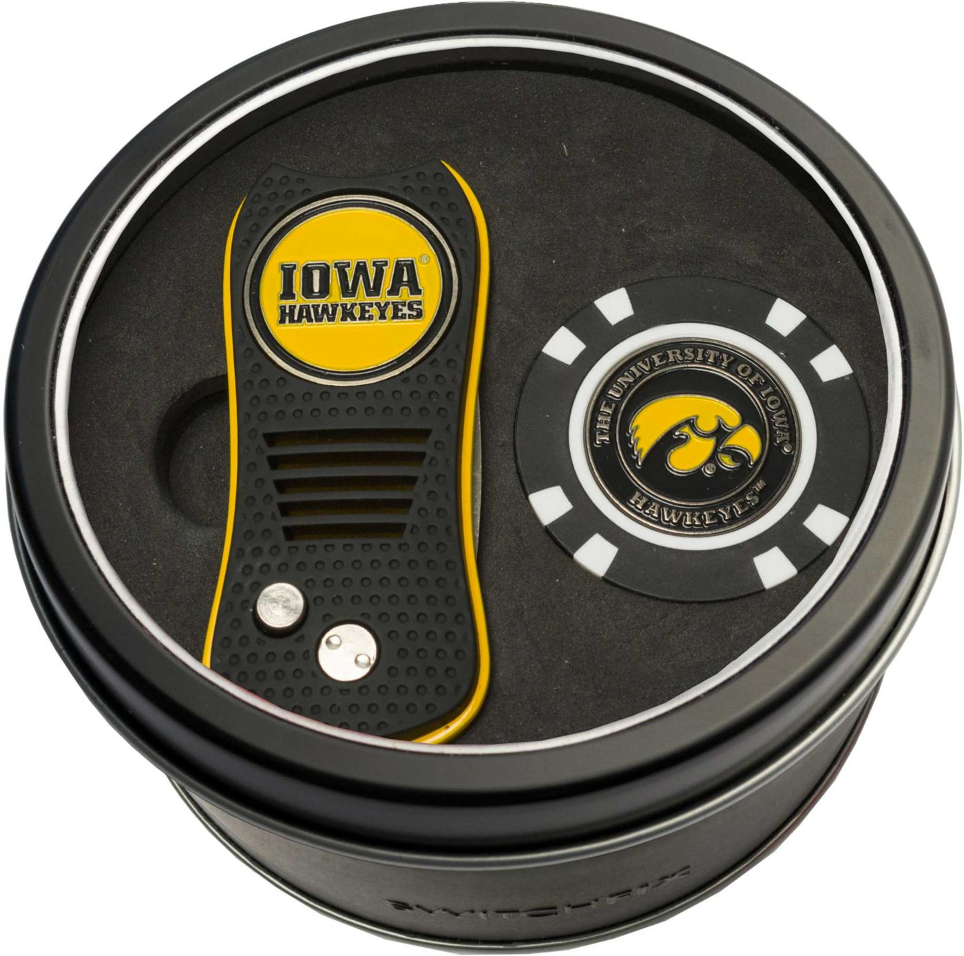 Team Golf Iowa Hawkeyes Switchfix Divot Tool and Poker Chip Ball Marker Set