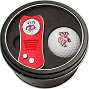 Team Golf Wisconsin Badgers Switchfix Divot Tool and Golf Ball Set